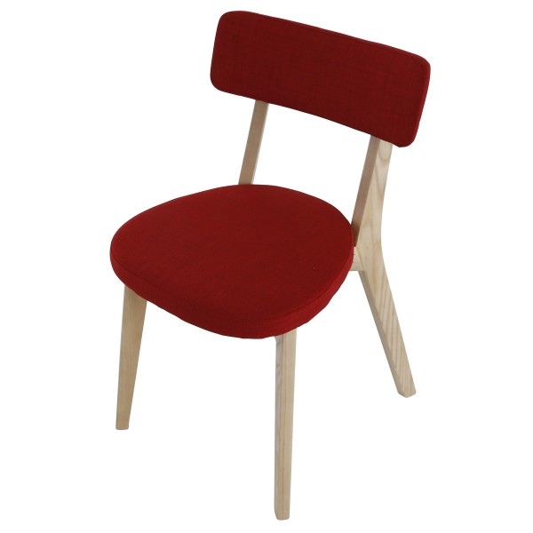 Chaise repas alison rouge for Chaise d implantation