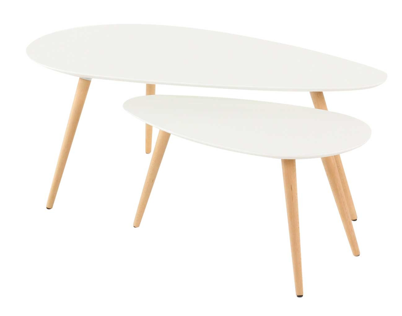 Tables basses gigognes blanches pixy - Table basse gigogne blanche ...