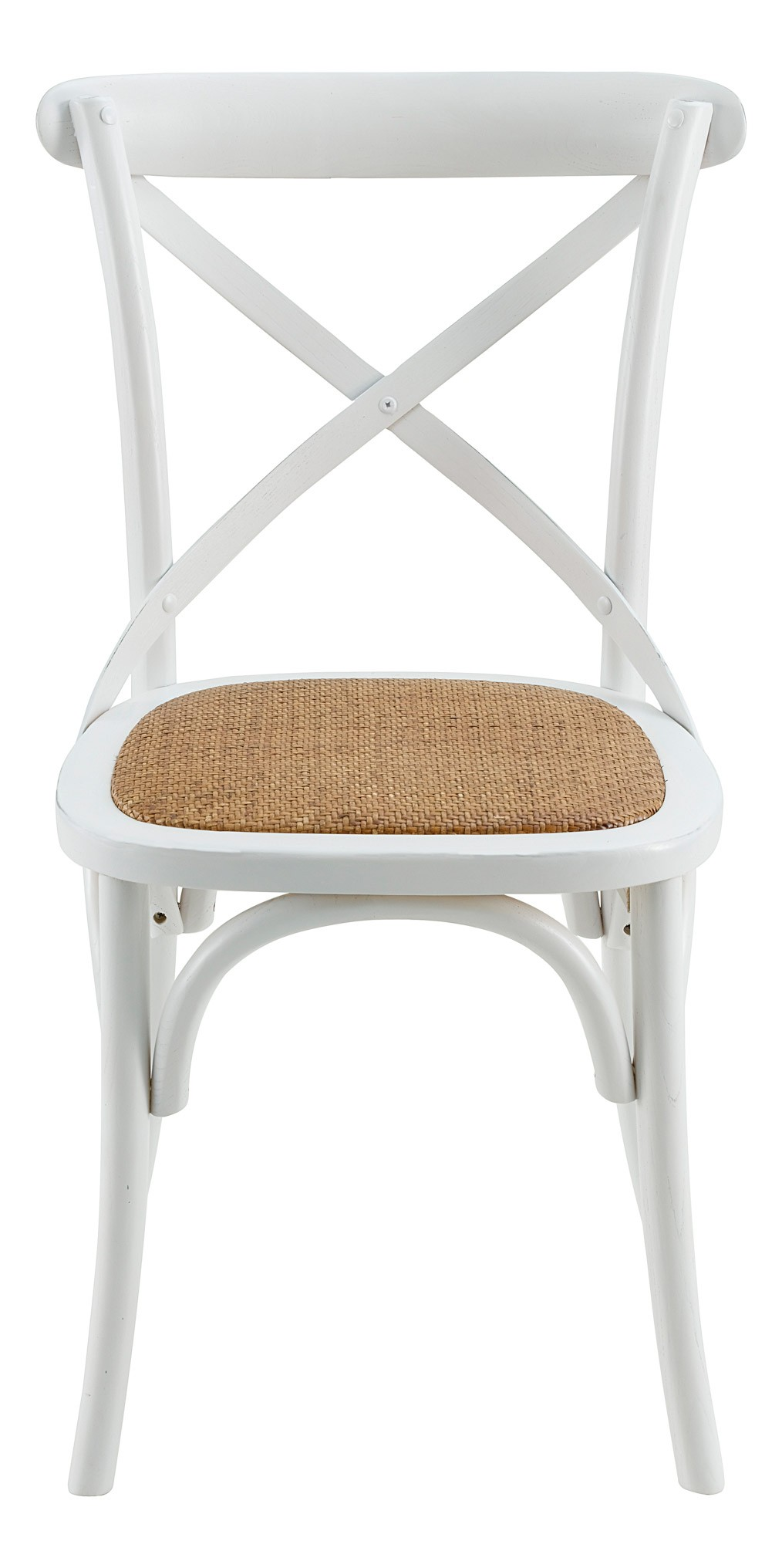 Chaise bistrot blanche vendues par 2 for Chaise de bistrot blanche