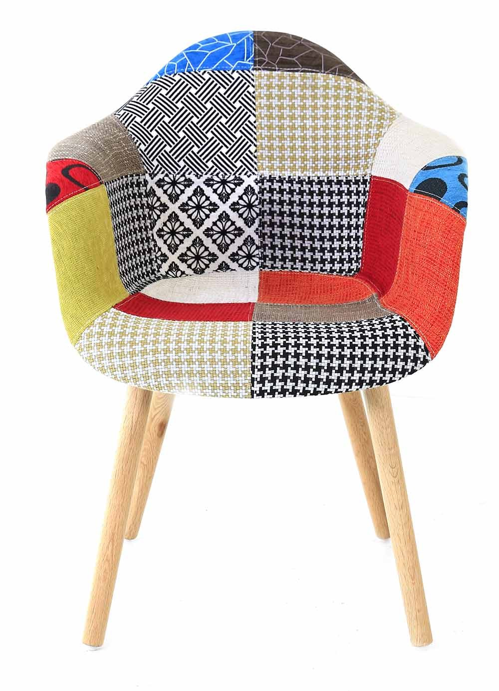 fauteuil multicolore patchwork. Black Bedroom Furniture Sets. Home Design Ideas