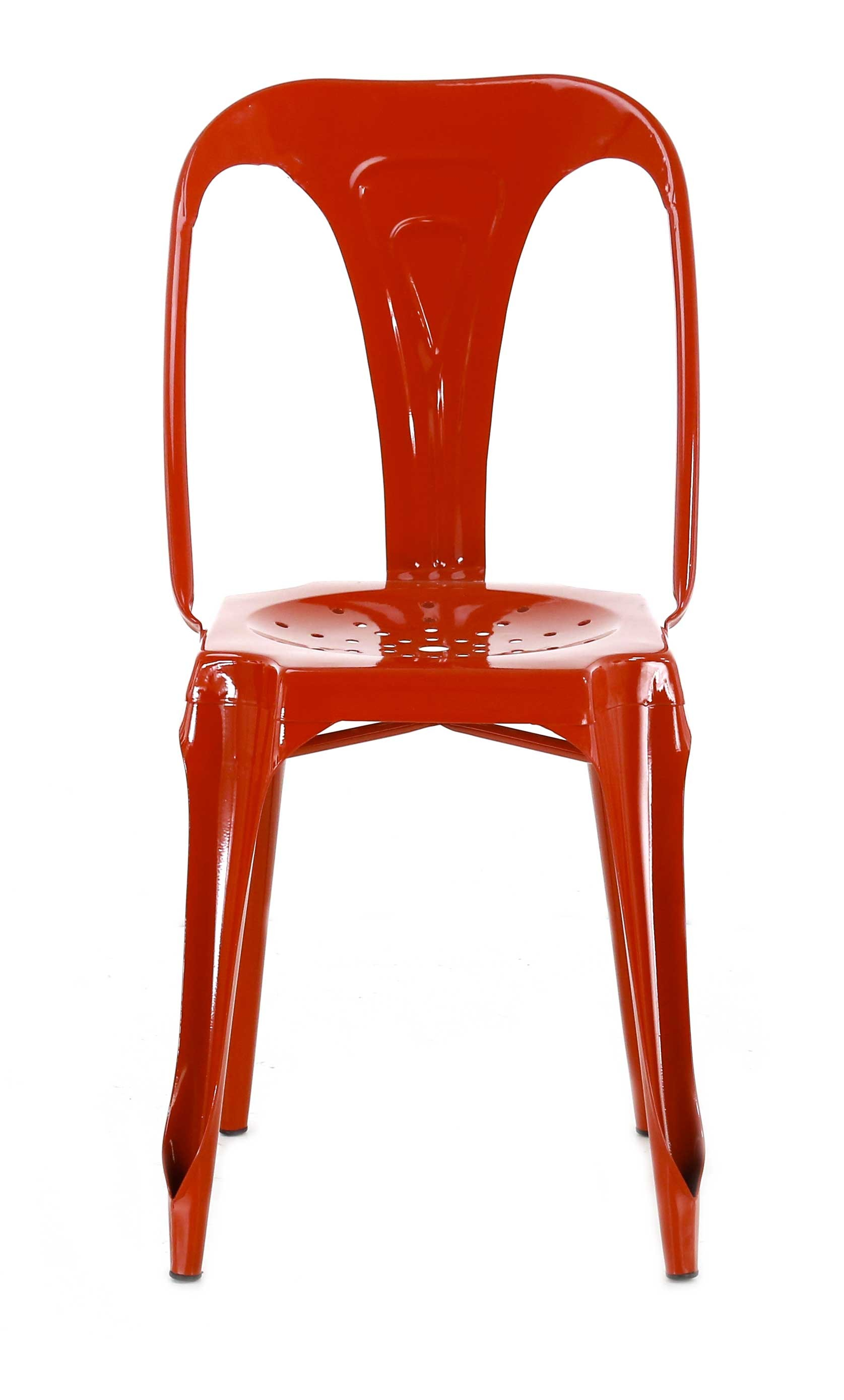 Chaise indus rouge for Chaise rouge